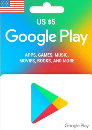 Google Play Gift Card USD $5