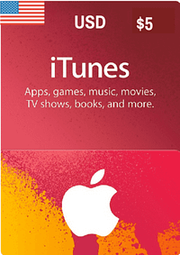 iTunes Gift Card USD $5