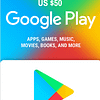 Google Play Gift Card USD $50